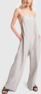 Otay Honday Jumpsuit Voile Silk in Tomita Grey, X-Small