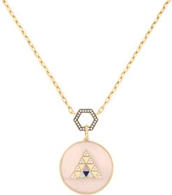 Pink Opal Foundation Necklace in Yellow Gold/White Diamond/Pink Opal
