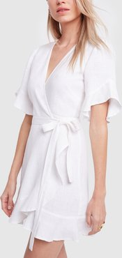 Edie Dress in White, X-Small