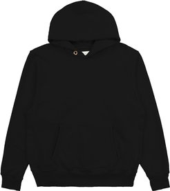 Cropped Hoodie in Jet Black, X-Small