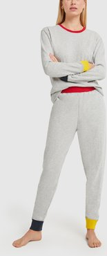 Helen Lounge Set in Color Block Heather Grey, X-Small