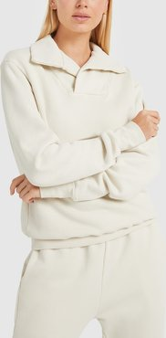 Yacht Pullover in Ivory, Size 2X-Small