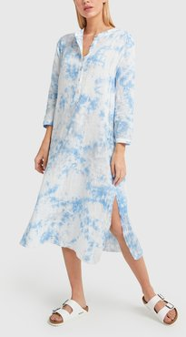 Stella Dress in Cloud Tie Dye Gauze, X-Small