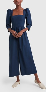 Blue Hill Jumpsuit in Navy, Size 0