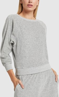 Raglan Top in Smoke, X-Small
