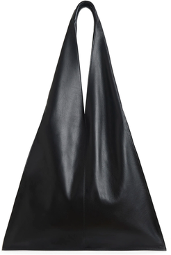 Triangle Bag in Black Nappa Leather