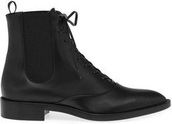 Dresda Black Calf Leather Boots