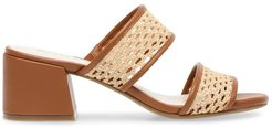 Brooke Woven Block Heel Sandals