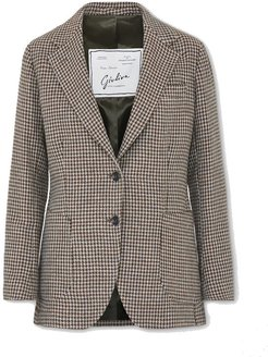 The Andrea houndstooth wool blazer