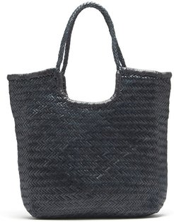 Triple Jump small woven-leather basket bag