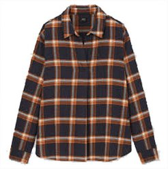 Flannel Checked Skipper Collar Long-Sleeve Shirt