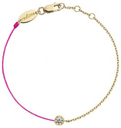 Pure Diamond Rose Cord and Chain Bracelet