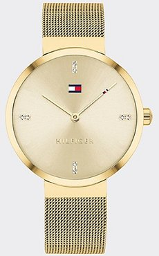 Gold-Plated Watch Wi Crystal Accents Gold -