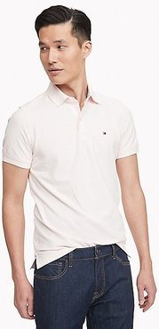 Slim Fit Essential Solid Stretch Polo Rose Water - XL