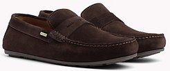 Suede Slip On Loafer Coffee Bean - 11