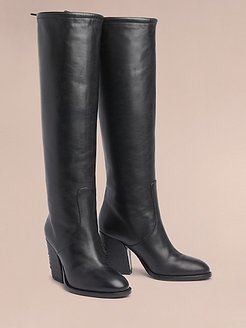 Hilfiger Collection Leather Heeled Boot Black - 6.5