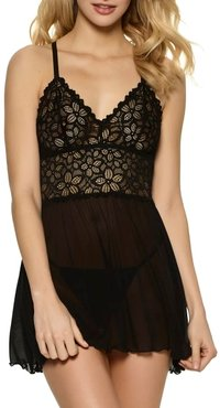 Renee Lace & Mesh Babydoll Set