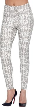 Perfect Control Faux Leather Animal Leggings