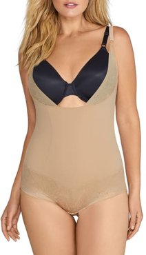 Plus Size Firm Foundations Open-Bust Bodysuit