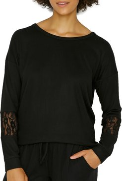 Heart To Heart Sweater Knit Lounge Top