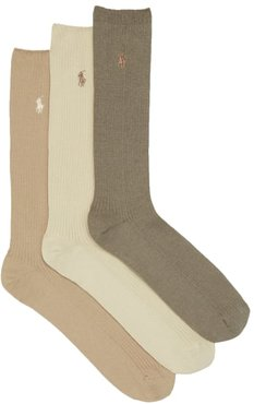 Big & Tall Combed Cotton Crew Socks 3-Pack