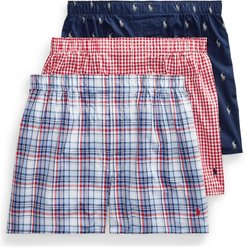 Classic Fit Woven Cotton Boxers 3-Pack