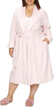 Plus Size Duffield Shawl Collar Plush Robe
