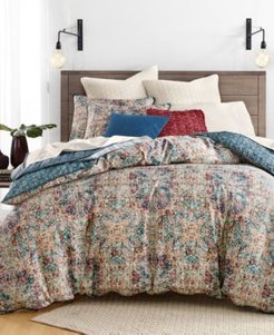 Closeout! Lucky Brand Alma Cotton Reversible 2-Pc. Twin Duvet Cover Set, Created for Macy's Bedding