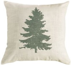 "18""x18"" Green Pine Tree Pillow"