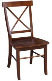 X-Back Chair - With Solid Wood Seat, Set of 2