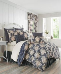 Closeout! Piper & Wright Braylee Indigo Queen Comforter Set Bedding