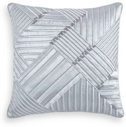 "Dimensional Embroidered 20"" Square Decorative Pillow, Created for Macy's Bedding"