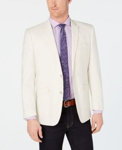 Slim-Fit Stretch Cream Textured Sport Coat