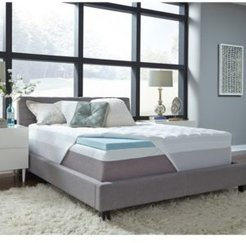 """3.5"""" Comforpedic from Beautyrest Gel King Memory Foam with Fiber Topper Cover"""