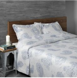 Sateen Paisley Sheet Set, Queen Bedding