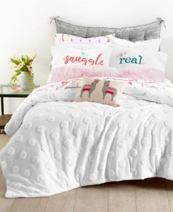 Whim by Martha Stewart Collection Chenille Dot 3-Pc. King Comforter Set, Created for Macy's Bedding