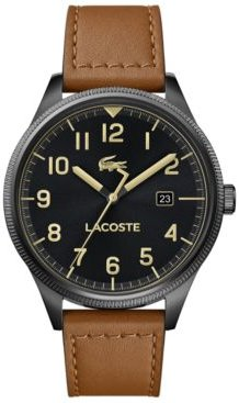 Continental Tan Leather Strap Watch 43mm
