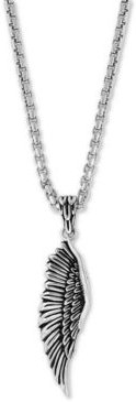 """Effy Men's Wing 22"""" Pendant Necklace in Sterling Silver"""