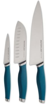 Cutlery Japanese Stainless Steel 3-Pc. Chef's Knife Set, Teal