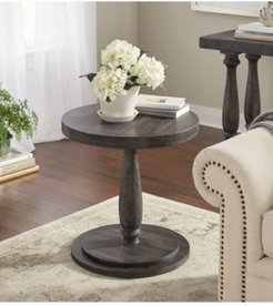 Avignon Burntwood Round Side Table