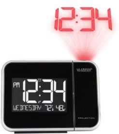 Projection Alarm Clock with Indoor Temp and Humidity