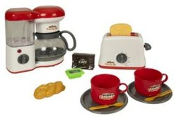 Deluxe Kitchen Play Set Coffee Maker and Toaster