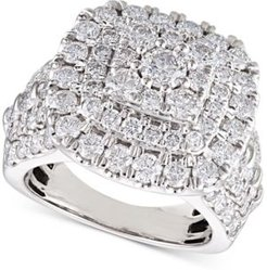Diamond Cluster Cushion Engagement Ring (4 ct. t.w.) in 14k White Gold