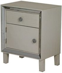 Heather Ann Bon Marche Mirrored Accent Cabinet with Drawer