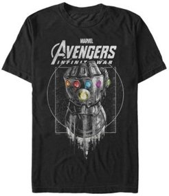 Avengers Infinity War Black and Grey Ancient Gauntlet Short Sleeve T-Shirt