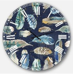 Floral Oversized Metal Wall Clock