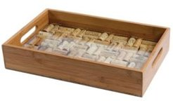 Bamboo Service Tray of Glass