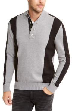 Inc Men's Colorblocked Snap Henley Sweater, Created for Macy's
