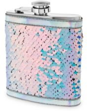 Splash Mermaid Change Sequin Captive Flask