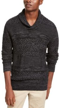 Multi-Textured Shawl-Collar Sweater, Created for Macy's